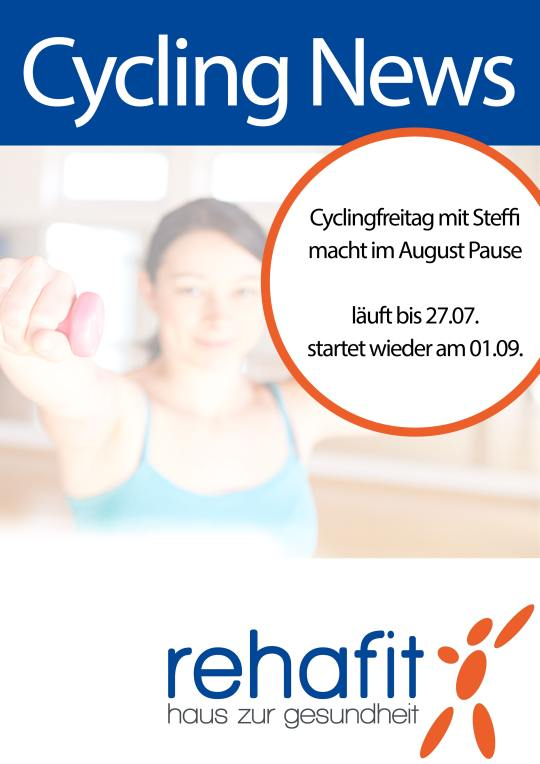 Cycling Augustpause Infoplakat A 4 540