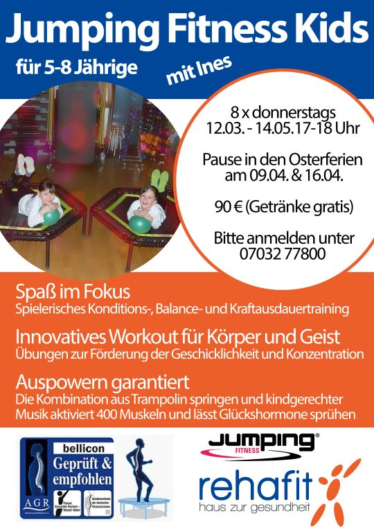 Jumping Fitness Kids A2 Plakat 04.08 540